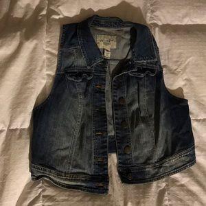 American Rag Jean Vest Plus Size 0X